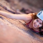 Photo of a female climber