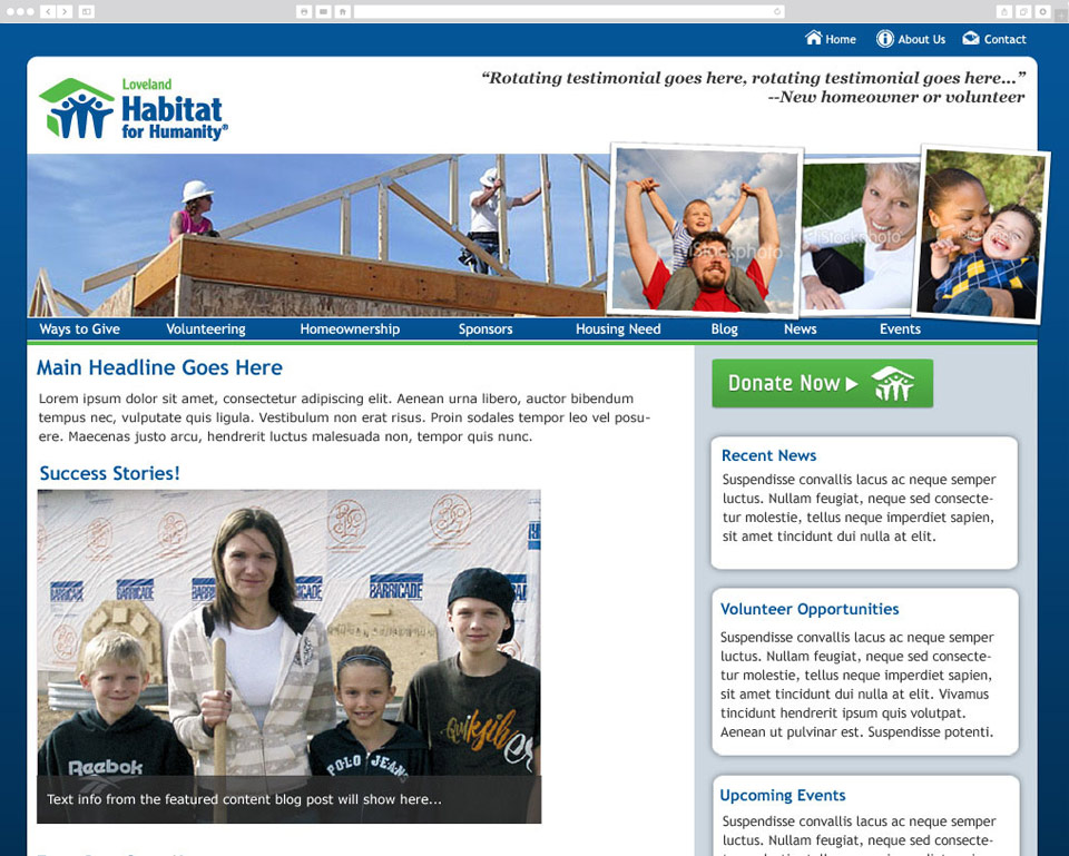 Loveland Habitat for Humanity screenshot