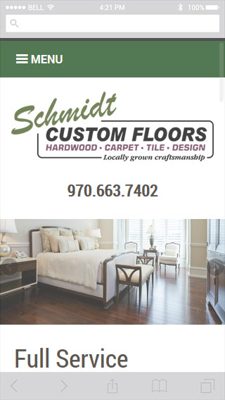 Schmidt Custom Floors screenshot