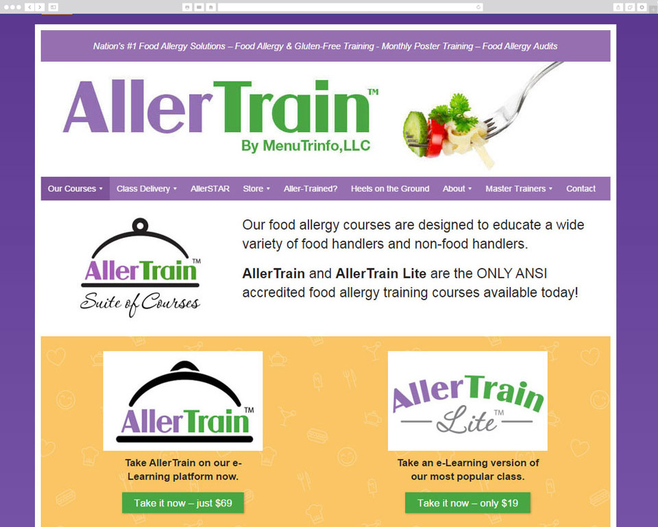 Screenshot of AllerTrain desktop