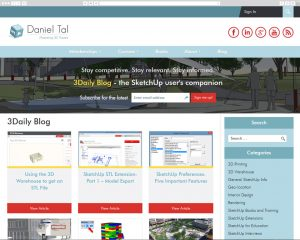 Screenshot of DanielTal.com desktop view