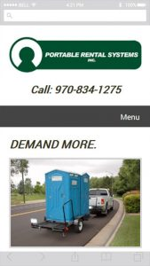 Screenshot of Portable Rental Systems mobile
