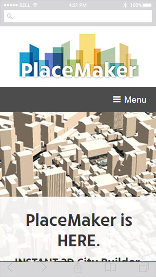 PlaceMaker mobile screenshot