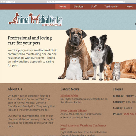 Animal Medical Center 2017 desktop screenshot