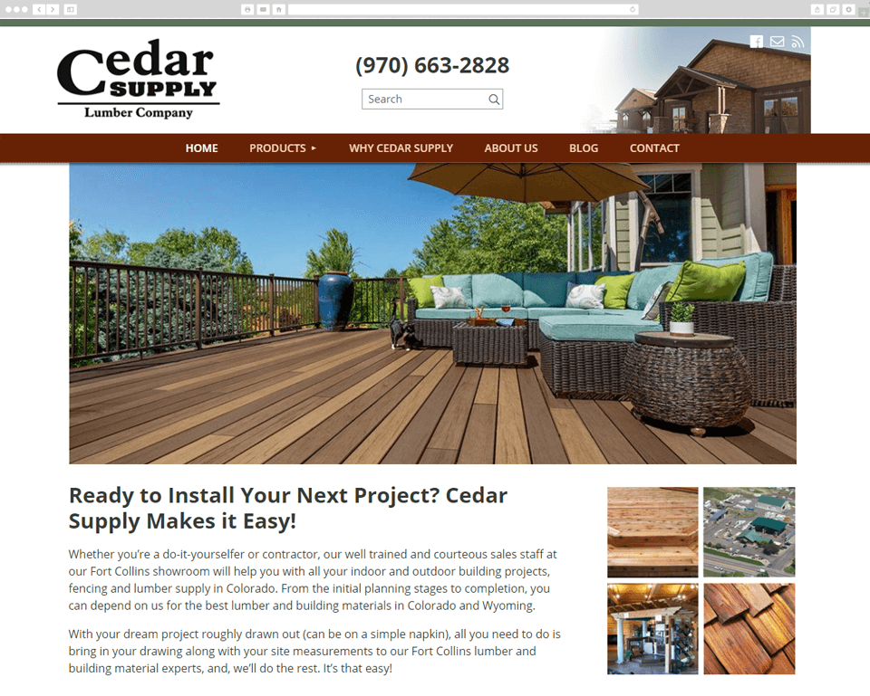Cedar Supply desktop screenshot