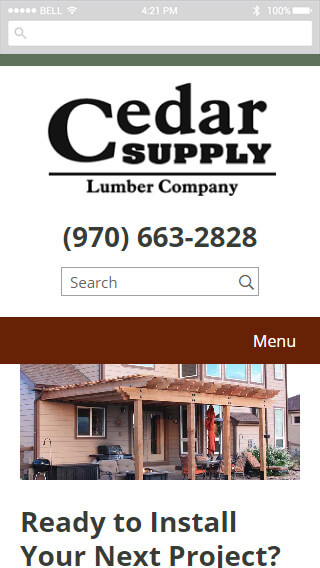 Cedar Supply mobile screenshot