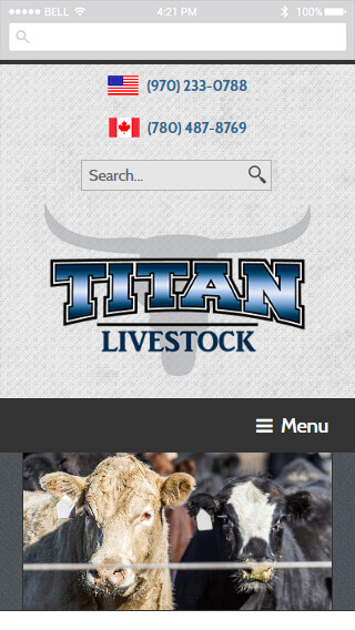 Titan Livestock mobile screenshot