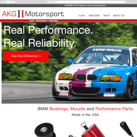 AKG Motorsport desktop screenshot