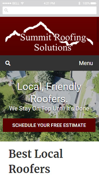 Summit Roofing Solutions mobile screenshot