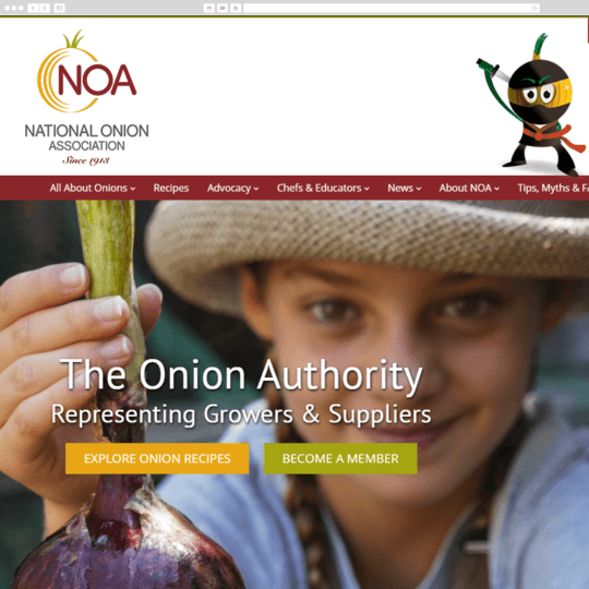 National Onion Association desktop screenshot