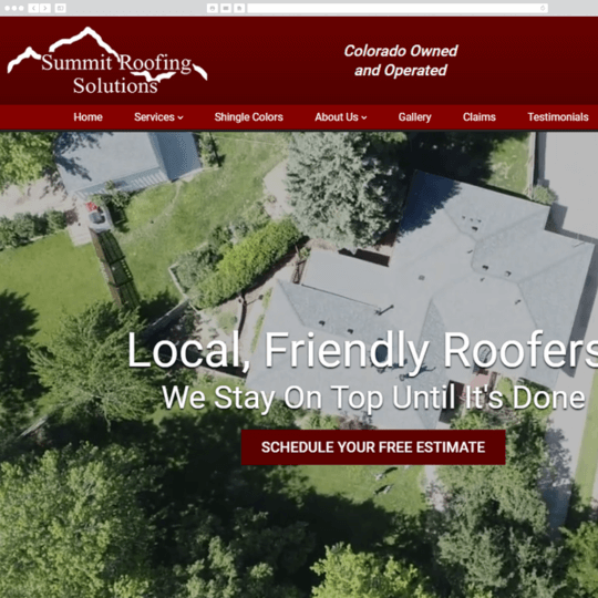 Summit Roofing Solutions desktop screenshot