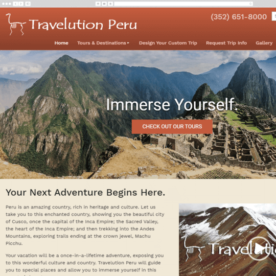 Travelution Peru desktop screenshot