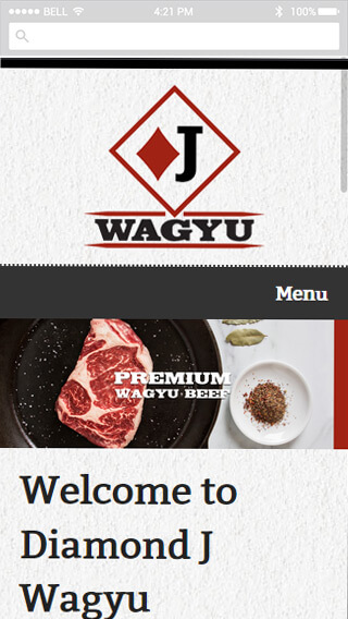 Diamond J Wagyu mobile screenshot